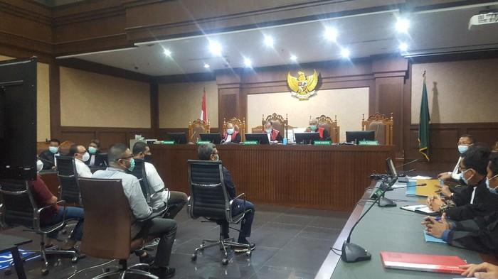 Sidang pembacaan dakwaan eks Dirut BTN Maryono di Pengadilan Tipikor Jakarta, Senin (22/3/2021).