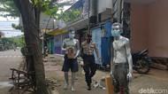 Polisi Amankan Tiga Manusia Silver yang Mengemis di Trenggalek