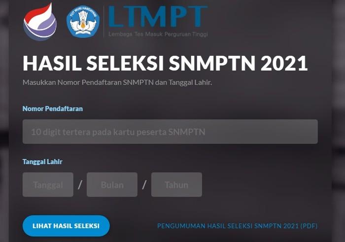 Pengumuman SNMPTN 2021