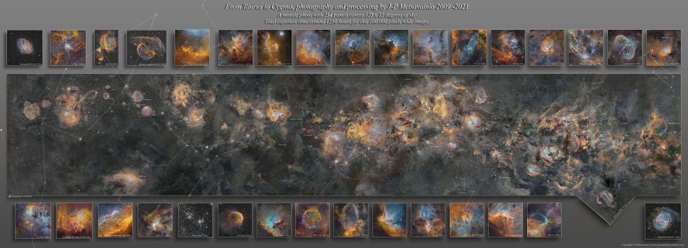 Fotografer astronomi J.P., yang menghabiskan 12 tahun membuat peta galaksi Bima Sakti.  Metzvainio.