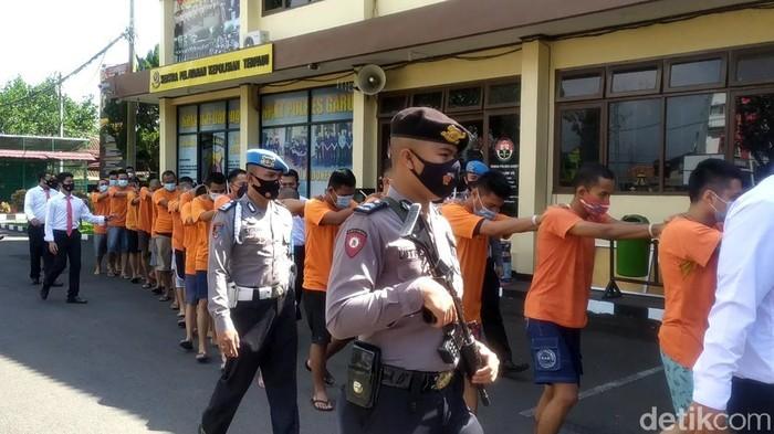 Puluhan tersangka kasus narkoba di Garut
