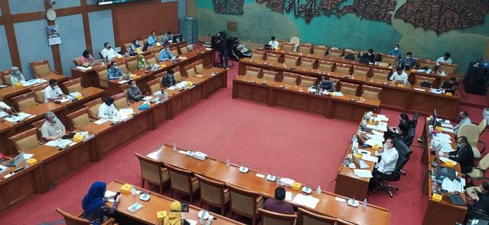 Rapat di Komisi X DPR RI (Rahel-detikcom)