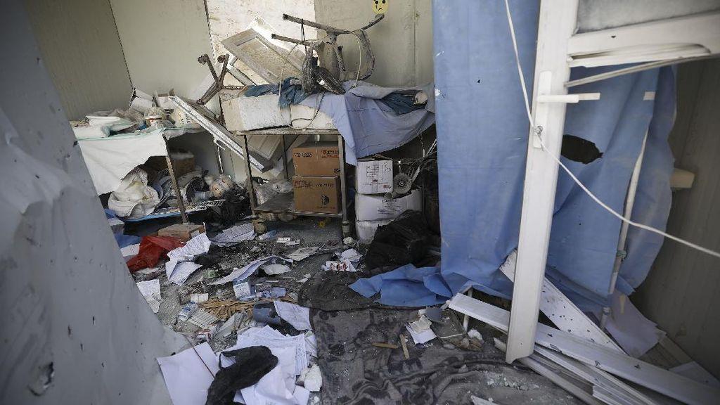 Rumah Sakit di Idlib Porak Poranda Diserang Militer Suriah