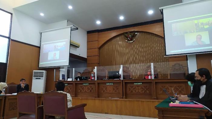 Sidang Jumhur Hidayat di PN Jakarta Selatan (Luqman Nurhadi/detikcom)