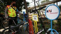 #ParkirUntukSepeda di 22 Stasiun KRL: Banyak Rak Sepeda Masih Kosong