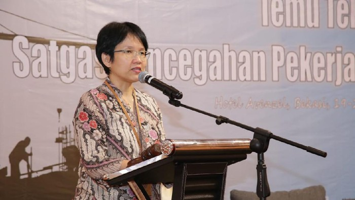 Direktur Perlindungan Penempatan Tenaga Kerja Luar Negeri (PPTKLN) Kemnaker, Eva Trisiana