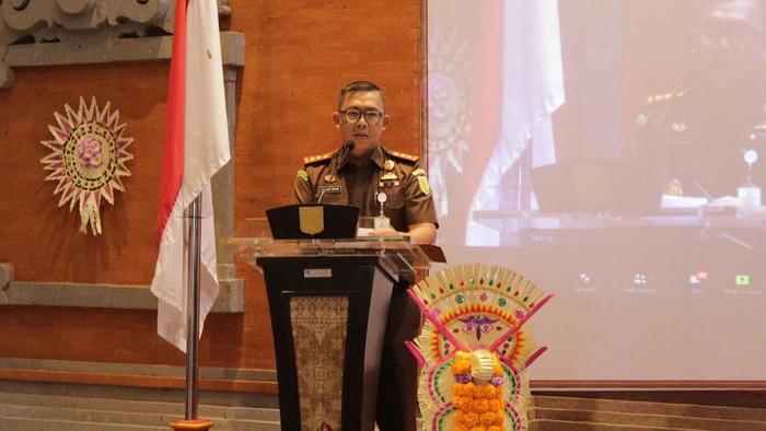 Kajari Karangasem Aji kalbu Pibadi Saat menyampaikan Sambutan di acara Good Governance (Foto: dok Kejari Karangasem)