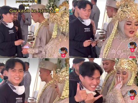 Kisah nyeleneh pria yang memberikan kado tisu magic untuk pengantin.