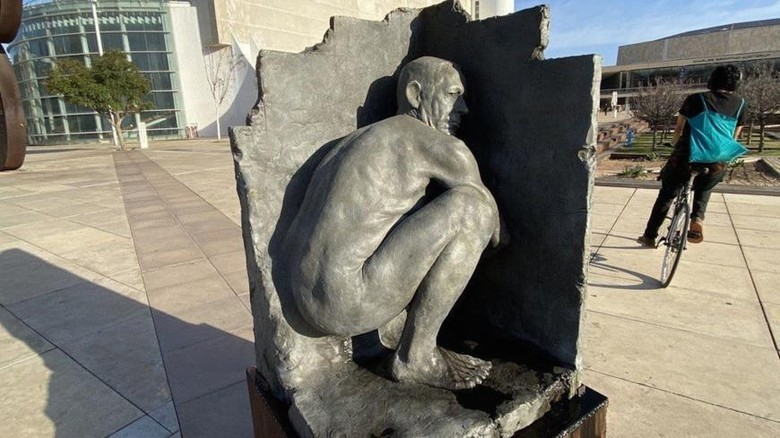Patung Benjamin Netanyahu