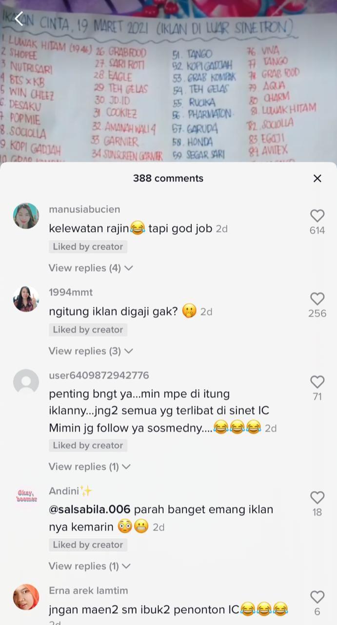 Rajin Banget! Netizen Ini Hitung Total Jumlah Iklan 'Ikatan Cinta'