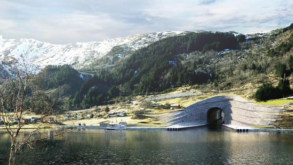 Norwergia akan segera membangun terowongan kapal pertama di dunia sepanjang 1,7 km dengan tinggi 27 meter dan lebar 26,5 meter. (The Norwegian Coastal Administration)
