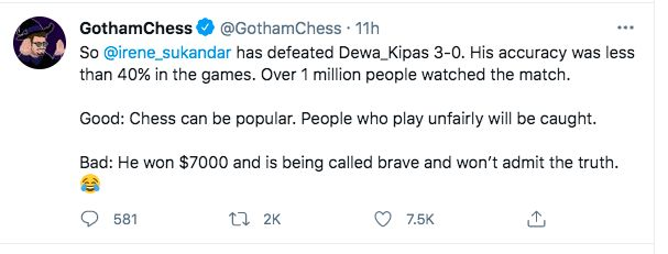 Tweet GothamChess