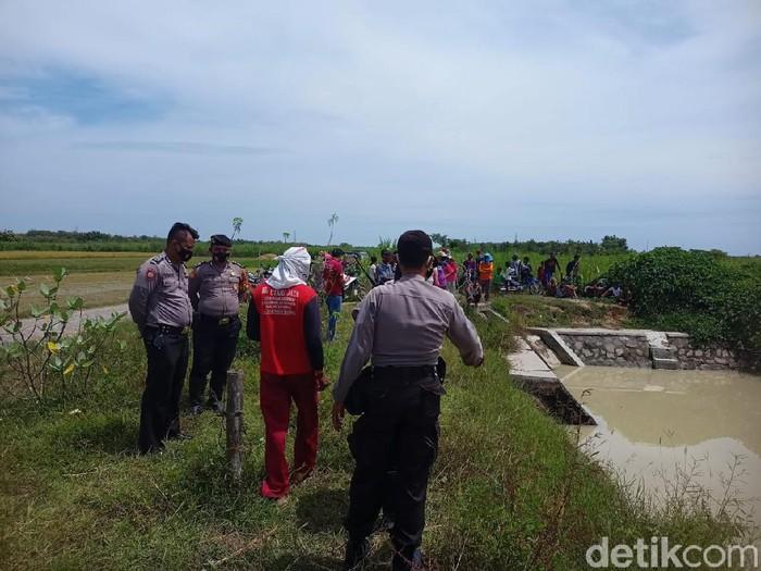 Embung lokasi penemuan mayat di Rembang, Rabu (24/3/2021).