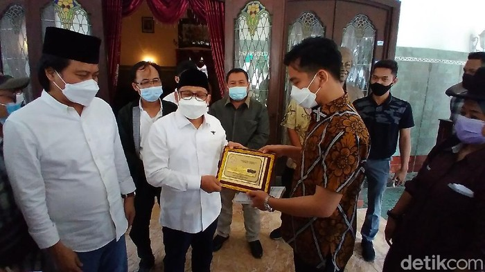 Ketum PKB Muhaimin Iskandar alias Cak Imin, menemui Wali Kota Solo Gibran Rakabuming Raka di rumah dinas Loji Gandrung, Solo, Rabu (24/3/2021).