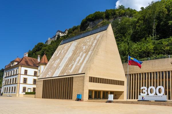 Ini adalah gedung ParlemenLiechtenstein.(Getty Images)