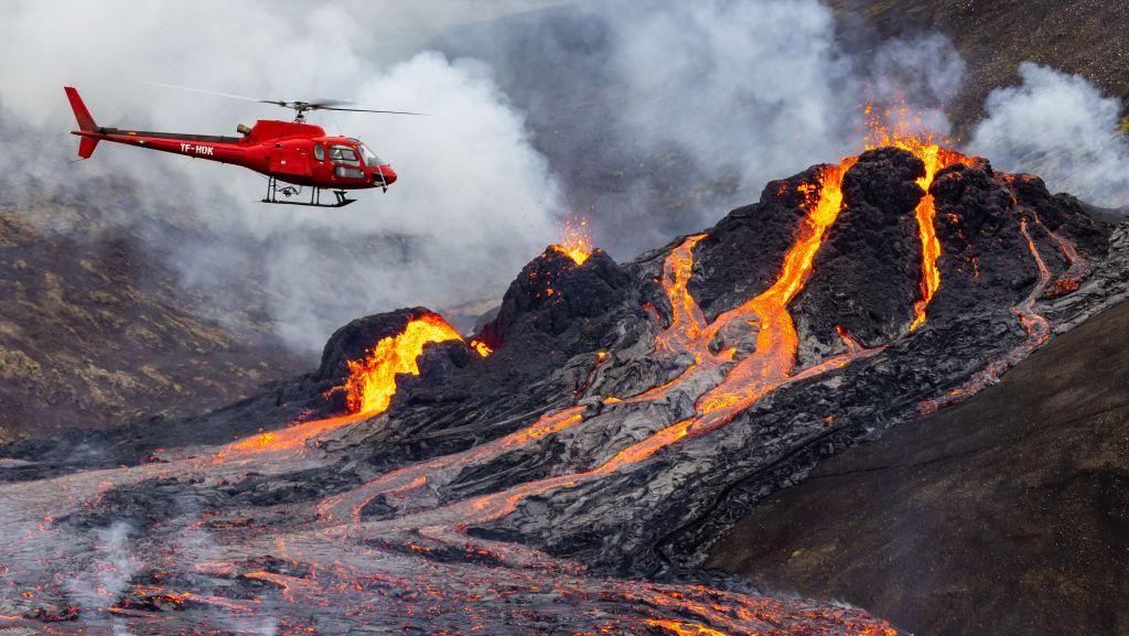 900 Tahun Tertidur, Gunung Berapi di Islandia Erupsi Lagi
