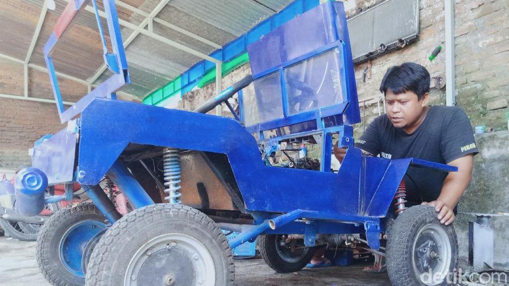 Jeep Mini dari Klaten, Dibangun dari Mesin Motor Bekas