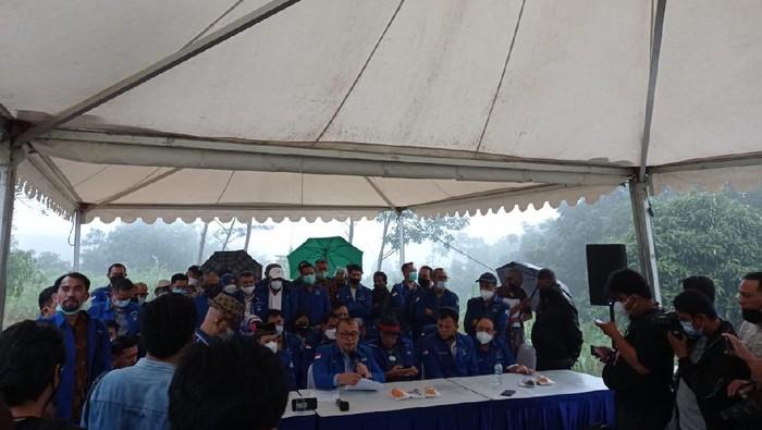 Konferensi Pers Partai Demokrat kubu Moeldoko di Hambalang (Foto: Sachril/detikcom)