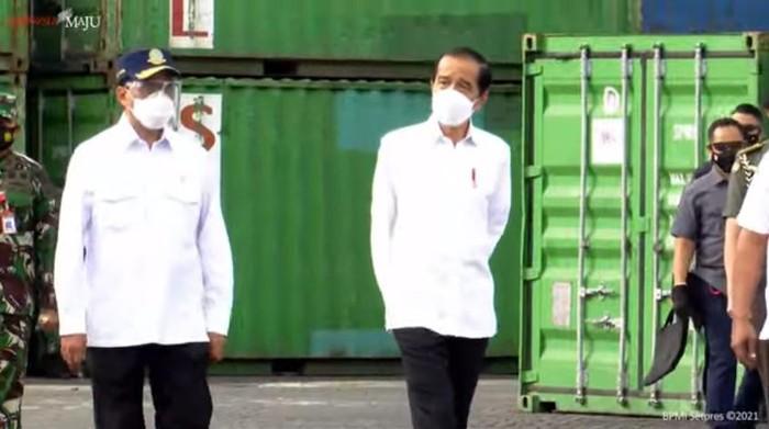 Kunjungan Jokowi ke Kota Ambon.
