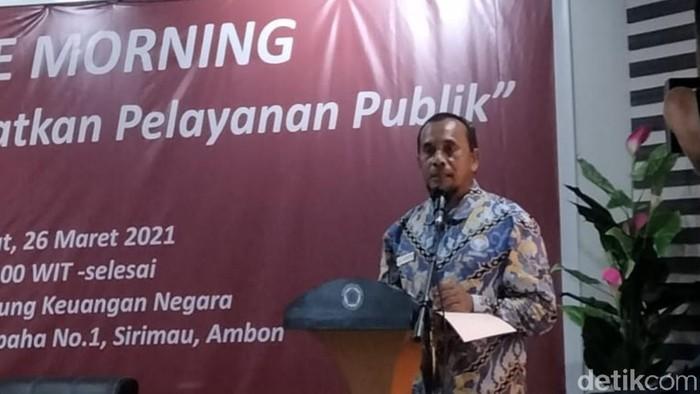 Kepala  Ombudsman RI Perwakilan Provinsi Maluku, Hasan Slamat (Muslimin Abbas/detikcom).