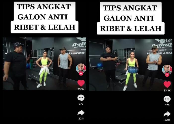 Tips Angkat Galon Anti Ribet dan Nyeri ala Cinta Laura, Simak Yuk!