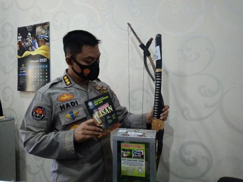 Barang bukti kasus dugaan terorisme (Datuk Haris-detikcom)