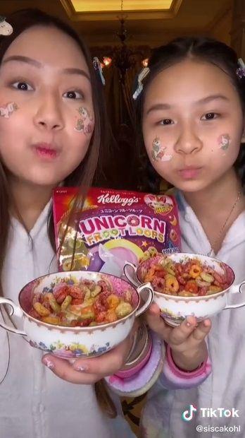 sisca kohl cicip makanan serba unicorn