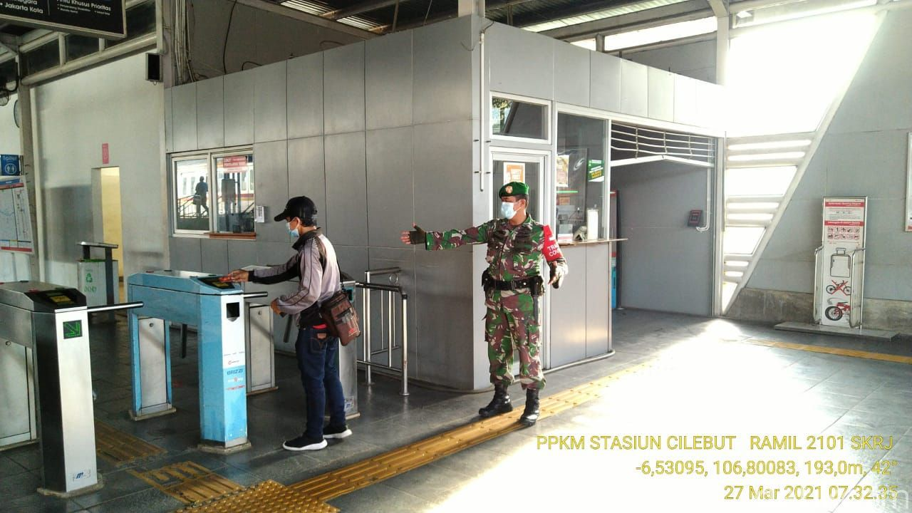 Suasana Stasiun Cilebut, Bogor. (Dok Babinsa TNI Desa Cilebut Timur )
