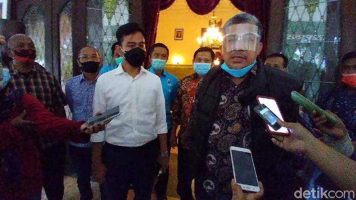 Wakil Ketua Umum Partai Gelora, Fahri Hamzah, temui Wali Kota Solo Gibran Rakabuming Raka, Sabtu (27/3/2021).