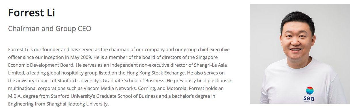 Forrest Li/Dok Sea Ltd