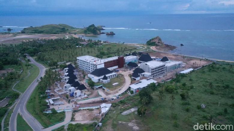 Progres pembangunan Hotel Pullman Mandalika.