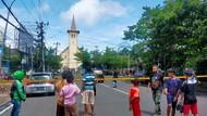 Kondisi Terkini di Depan Gereja Katedral Makassar Usai Ada Ledakan