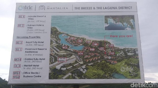 Selain itu, ada juga sejumlah hotel lain yang rencananya juga akan di bangun di kawasan tersebut (Randy/detikTravel)