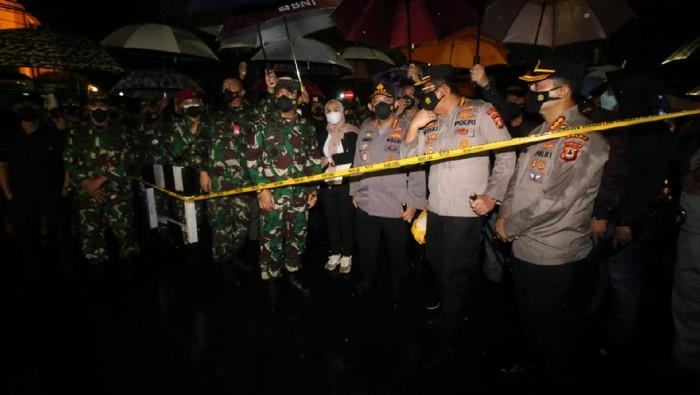 Panglima TNI dan Kapolri datangi lokasi bom bunuh diri di Makassar (Istimewa)