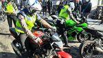 Puluhan Motor Berknalpot Bising Terjaring Razia di Kawasan Lembang