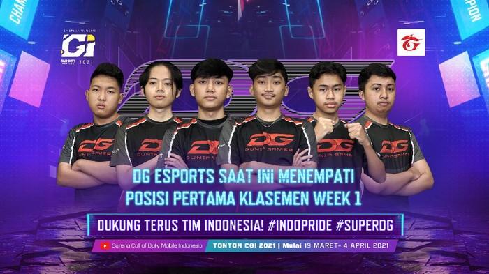 Tim Indonesia Menduduki Posisi Teratas di Group Stage Week 1 CODM Garena Invitational 2021