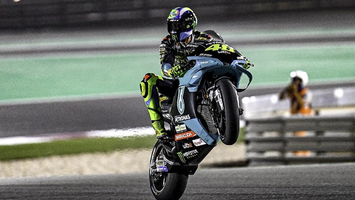 Valentino Rossi di di kualifikasi MotoGP Qatar 2021.