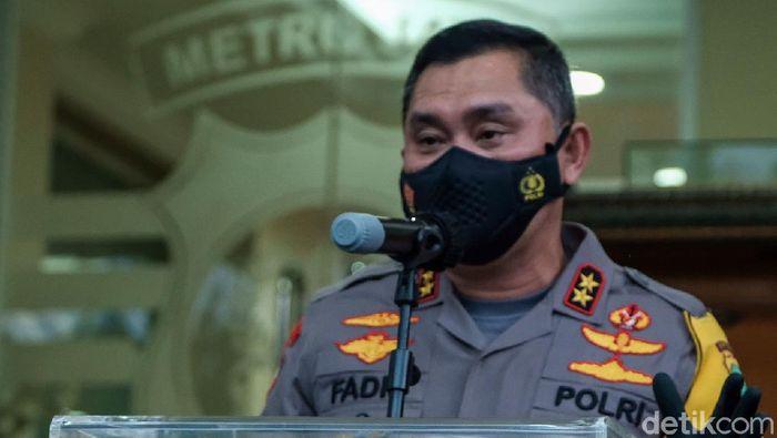 Kapolda Metro Jaya Irjen Fadil Imran saat jumpa pers penangkapan terduga teroris di Jakarta dan Bekasi, Senin (29/3/2021)