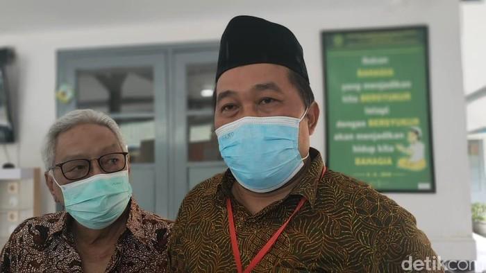 Ketua Yayasan Mega Bintang 1997 Boyamin Saiman saat ditemui di PN Surakarta, Senin (29/3/2021)