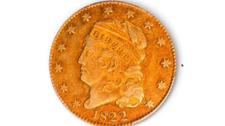 Koin emas langka dari tahun 1822 laku dilelang Rp 1,2 Triliun