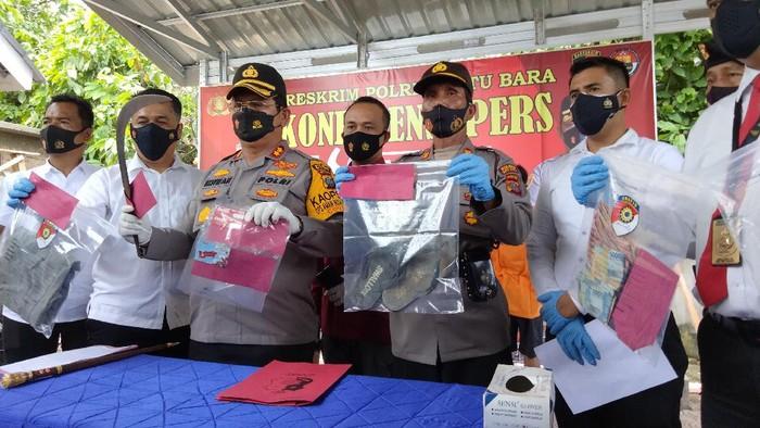 Konferensi pers di Polres Batu Bara (Perdana-detikcom)