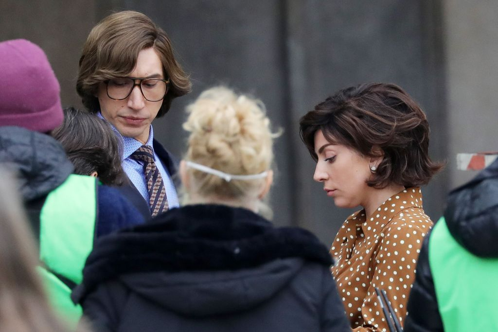 MILAN, ITALY - MARCH 11: Adam Driver and Lady Gaga are seen filming 'House of Gucci' on March 11, 2021 in Milan, Italy. (Photo by Vittorio Zunino Celotto/Getty Images)