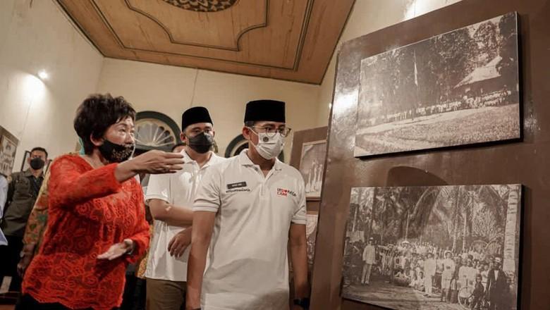 Sandiaga Uno di rumah Tjong A Fie, Medan, Sabtu (26/3/2021).