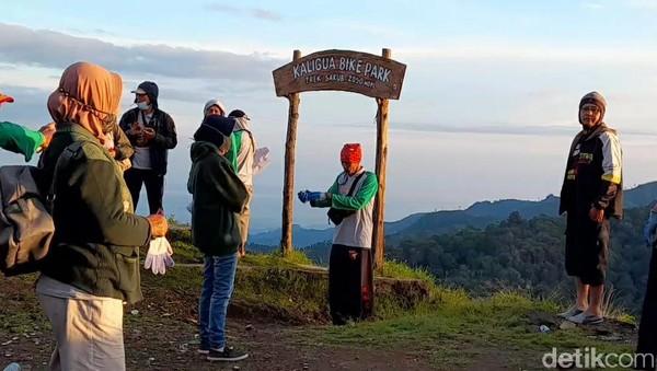 Puncak Sakub tepatnya berada di Desa Pandansari, Kecamatan Paguyangan, Brebes. Dari ruas Jalan Tegal Purwokerto, perkebunan ini berjarak 15 km. (Imam Suripto/detikcom)