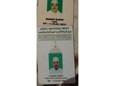 Bukti kartu anggota FPI milik Husein Hasny
