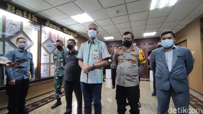 Gubernur Jawa Tengah Ganjar Pranowo dan Kapolda Jawa Tengah Irjen Ahmad Luthfi, Selasa (30/3/2021).
