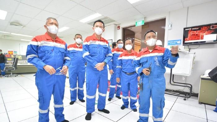 Komisaris Utama Pertamina Basuki Tjahaja Purnama (Ahok) menyampaikan apresiasi penanganan yang dilakukan Tim Pertamina, baik dalam upaya pemadaman api maupun penanganan warga terdampak.