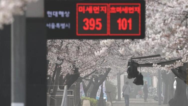 Kota Seoul di Korea Selatan Kena Badai Debu kuning.
