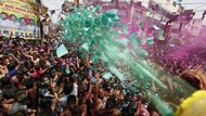 Meriahnya Festival Holi India di Tengah Pandemi