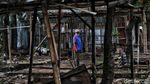 Terdampak Pembangunan JIS, Lapak Pedagang di Taman BMW Ditertibkan